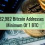 Only 732,982 Bitcoin Addresses Hold A Minimum Of 1 BTC