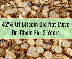 42% Of Bitcoin Did Not Move On-Chain For 2 Years