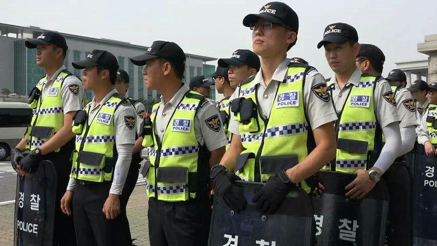 south korean police